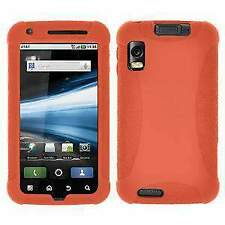 AMZER Silicone Soft Skin Jelly Case Cover for Motorola ATRIX 4G MB860 - Orange