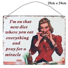 Diet Metal Hanging Sign Wall Plaque Shabby Chic Gift Homeware