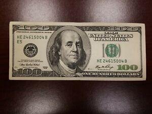 Series 2006 ~ US One Hundred Dollar Bill $100 ~ Richmond ~ HE 24615004 B