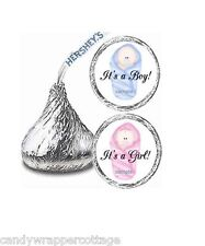 216 Personalized IT'S A BOY GIRL Kisses Labels Personalized Stickers Baby Shower