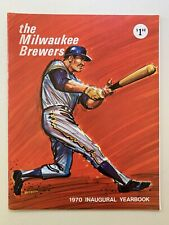 1970 Milwaukee Brewers Inaugural Season Official Yearbook. Ex+. 38 Pages.