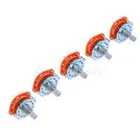 5 Pcs Rotary Switch Selector 2 Pole 6 Position for Amplifier Guitar Parts