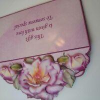 Handmade especially for you envelope/gift card wallet