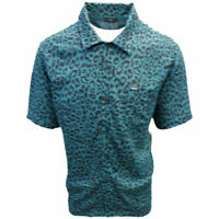 OBEY Men's Green Leo Leopard Print S/S Shirt (Retail $59.99) S12
