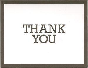 Thank You Cards-Black Imprint & Boarder~White Envelopes~BLANK~INSIDE~10 count