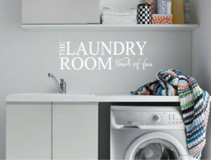 Laundry room loads of fun wall sticker | Laundry Quote Wall Decal
