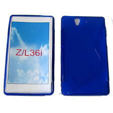 S-Line Shockproof Gel Case Cover For Sony Xperia Z LT36i L36i L36h C6603 Blue