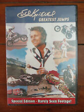 """EVEL KNIEVEL """"Spectacular Jumps"""" DVD WITH RARE NEVER SEEN Frank Gifford Footage!"""