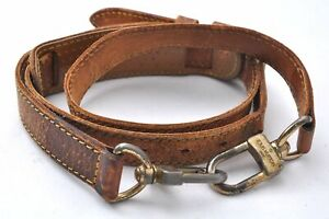 """Authentic Louis Vuitton Leather Shoulder Strap Beige 38.8-46.1"""" LV C9329"""