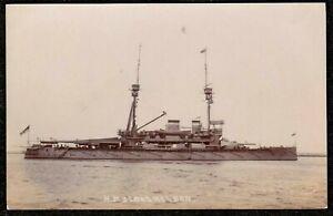 WW1 HMS LORD NELSON ROYAL NAVY REAL PHOTO POSTCARD PUB EDWIN H SEWARD WEYMOUTH