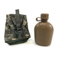 USGI 1 Quart Canteen w ACU Eagle Industries Pouch Coyote Brown Heavy Duty Bottle