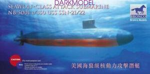 BRONCO NB5001 1/350 USS SSN-21/22 Seawolf-Class Attack Submarine