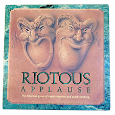 RIOTOUS APPLAUSE Fun Family Board Game Charades Words Questions Waffle Age 10 Up