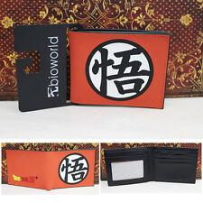 "Anime DragonBall Z ""悟"" Logo Wallet Money Clip Purse Card Holder Cosplay Notecase"