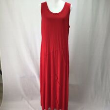 Style and Company Women Sleeveless Seam Maxi Dress Real Red XL ME0385