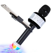 Tonor Karaoke Microphone,Wireless Bluetooth Handheld Speaker Led Light Mic Black