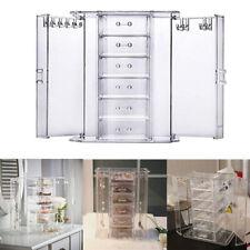 6 Drawer Organiser Acrylic Makeup Drawer Holder Jewellery Case Box Storage Clear