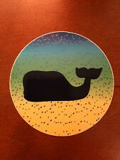 New Authentic Vineyard Vines Dot Circle Whale Sticker Laptop Yeti Car Decal