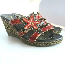 Spring Step Women's Wedge Heel Sandals Gardenia Size EU 38 US 7