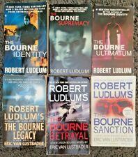 JASON BOURNE SERIES #1-6 BOOK LOT THRILLER MYSTERY PAPERBACK LUDLUM LUSTBADER