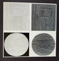 """Victor Vasarely """"Naissances"""" Mounted b/w Offset Lithograph 1971"""