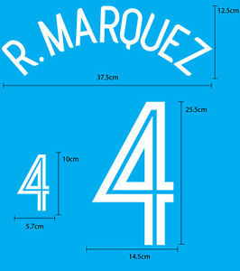 R.MARQUEZ #4 Mexico Home World Cup 2006 NAME NUMBER FOOTBALL SOCCER PRINT