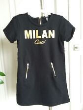 Forever 21 black gold Milan Ciao dress sz 7-8