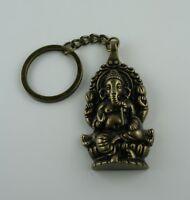 Große Vajra Ganesha Anhänger Schmuckband Elefant Gott Weisheit Phurba Metall 5cm