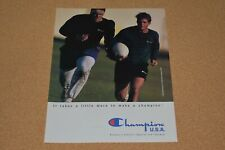 1991 Print Ad Champion Usa athletic apparel footwear Rochester New York Rugby