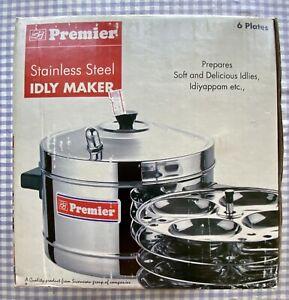 Idli Steamer Maker - Stainless Steel Cooker 6 Plates