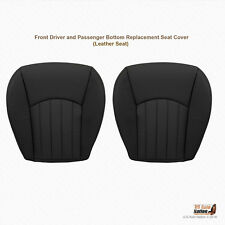 2005 2006 Jaguar X-Type Front Driver & Passenger Bottom Leather Seat Cover BLACK