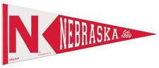 NEBRASKA CORNHUSKERS Retro-1960s-Style NCAA Team Premium Felt Collectors PENNANT