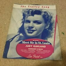 1944 The Trolley Song JUDY GARLAND Meet Me In St. Louis Sheet Music Leo Feist