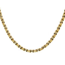 14K Yellow Gold Hugs & Kisses 16 Inch Chain 11.8 Grams