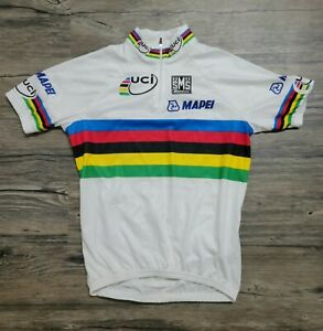 sms santini cycling jersey World Champion, Mapei Sponsor version, Medium