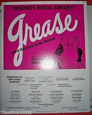 Grease Musical Poster Ripp Stage Company
