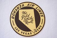 Bonanza Air Lines Airline Luggage Label Gold Strike Route