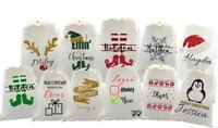 Personalised santa sack xmas eve bag christmas stocking bag reindeer elf glitter