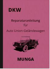 DKW Munga reparación instrucciones auto instrucciones de montaje unión taller de mano libro 1962