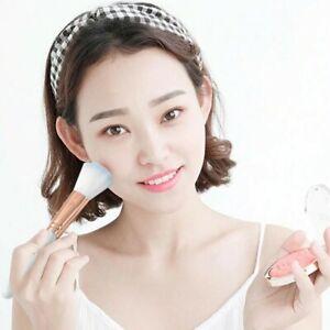 Pink Blue Blush Brush Makeup Tools Loose Powder Brush Fiber Hair Plastic Handle