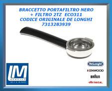 BRACCETTO PORTAFILTRO NERO + FILTRO 2TZ  ECO311 7313283939 DE LONGHI ORIGINALE