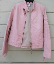 Mac and Jac Energee Slightly Distressed Street Style Pink Sport Jacket Wms Med