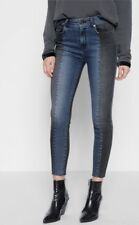 NWT 7 SEVEN FOR ALL MANKIND 26 THE ANKLE SKINNY SUPER PIECED BLUE JEANS  $189