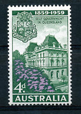 AUSTRALIA 1959 CENTENARY OF SELF-GOVERNMENT IN QUEENSLAND SG 332  MNH