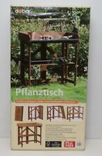 dobar 29053FSC Praktischer Pflanztisch aus FSC-Kiefernholz, zusammenklappbar