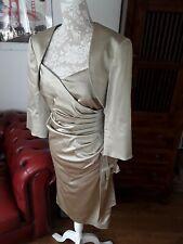 ISPIRATO wedding MOB gold dress bolero jacket outfit 12 14