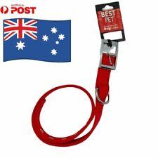 "Best Pet  Dog Collar XL Size - Red - 25mm x 26"" (66cm) Brand New Free Postage"