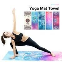 Folding Sport Fitness Travel Exercise Yoga Mat Cover Towel Blanket Non-Slip Mat