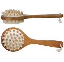 KINGSLEY, Bath & Shower Massage Natural Bristle Brush Two-Sided Bamboo Handle