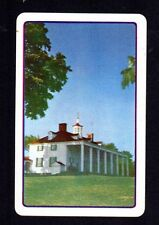 Vintage Swap Card - Country Estate  (USA BLANK BACK)